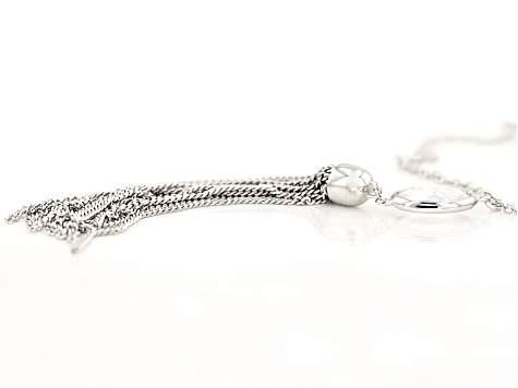 White Cubic Zirconia Rhodium Over Sterling Silver Necklace 14.64ctw