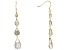 White Cubic Zirconia 18k Yellow Gold Over Sterling Silver Earrings 20.20ctw