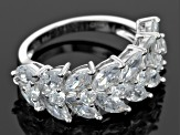 White Cubic Zirconia Rhodium Over Sterling Silver Ring 5.94ctw
