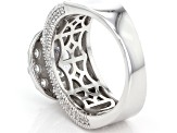 White Cubic Zirconia Rhodium Over Sterling Silver Ring 6.92ctw