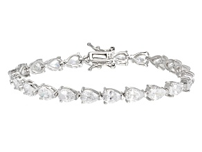 White Cubic Zirconia Rhodium Over Sterling Silver Bracelet 27.83ctw
