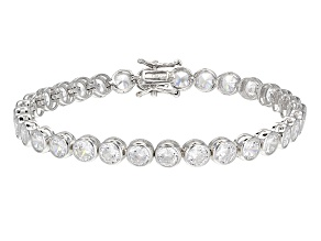White Cubic Zirconia Rhodium Over Sterling Silver Bracelet 22.91ctw