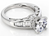 White Cubic Zirconia Rhodium Over Sterling Silver Ring 5.29ctw