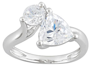 Cubic Zirconia Sterling Silver Ring 4.10ctw (2.70ctw DEW)