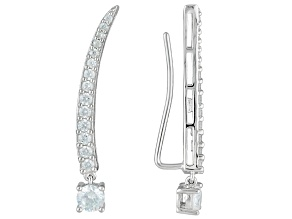 White Cubic Zirconia Rhodium Over Sterling Silver Earrings 2.28ctw