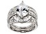 White Cubic Zirconia Rhodium Over Sterling Silver Ring With Guards 7.26ctw