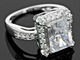 White Cubic Zirconia Rhodium Over Sterling Silver Ring 7.34ctw