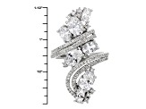 White Cubic Zirconia Rhodium Over Sterling Silver Ring 7.99ctw