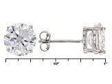 White Cubic Zirconia Rhodium Over Sterling Silver Earrings And Ring 21.10ctw