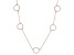 White Cubic Zirconia 18k Rg Over Sterling Silver Necklace 1.43ctw