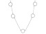White Cubic Zirconia Rhodium Over Sterling Silver Necklace 1.43ctw