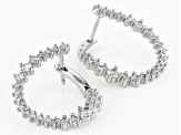 White Cubic Zirconia Rhodium Over Sterling Silver Earrings 2.45ctw