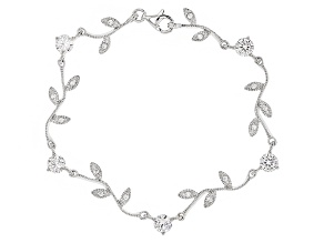 White Cubic Zirconia Rhodium Over Sterling Silver Bracelet 4.21ctw