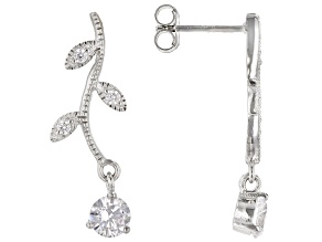 White Cubic Zirconia Rhodium Over Sterling Silver Earrings 1.67ctw