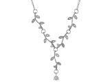 White Cubic Zirconia Rhodium Over Sterling Silver Necklace 5.12ctw