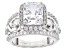 White Cubic Zirconia Rhodium Over Sterling Silver Ring 8.03ctw