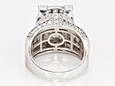White Cubic Zirconia Rhodium Over Sterling Silver Ring 11.65ctw