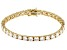 White Cubic Zirconia 18K Yellow Gold Over Sterling Silver Bracelet 27.65ctw