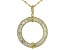 White Cubic Zirconia 18k Yellow Gold Over Sterling Silver Pendant With Chain 16.58ctw