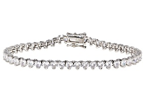 White Cubic Zirconia Rhodium Over Sterling Silver Bracelet 15.40ctw