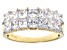 White Cubic Zirconia 18k Yellow Gold Over Sterling Silver Ring 3.50ctw