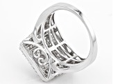 White Cubic Zirconia Rhodium Over Sterling Silver Ring 3.25ctw