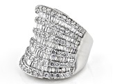 White Cubic Zirconia Rhodium Over Sterling Silver Ring 7.70ctw