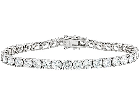 White Cubic Zirconia Rhodium Over Sterling Silver Tennis Bracelet 25.92ctw