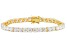 White Cubic Zirconia 18k Yellow Gold Over Sterling Silver Bracelet 25.92ctw