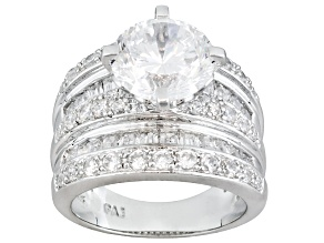 Womens Engagement Style Ring White Cubic Zirconia 9ctw Platineve