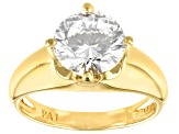 Womens Solitaire Ring Bella Luce Cubic Zirconia 18kt Yellow Gold Over Silver
