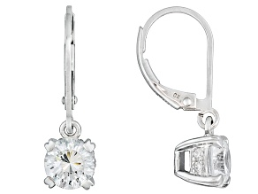Bella Luce3.52ctw White Cubic Zirconia Sterling Silver Lever Dangle Earrings