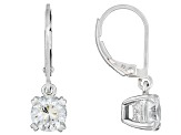 White Cubic Zirconia Rhodium Over Sterling Silver Dangle Earrings 3.52ctw
