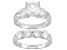 White Cubic Zirconia Rhodium Over Sterling Silver Ring And Band 5.89ctw