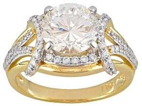 Bella Luce 4.59ctw 9mm Round Cubic Zirconia 18kt Yellow Gold Over Silver Ring