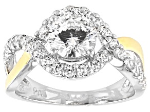 Bella Luce ® Dillenium Cut 3.20ctw Sterling Silver & 18k Yellow Gold Over Sterling Silver Ring