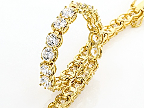 White Cubic Zirconia 18k Yellow Gold Over Silver Bracelet 23.76ctw