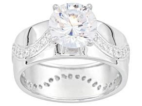 Bella Luce ® 3.93ctw Dillenium ™ Round, Rhodium Over Sterling Silver Ring