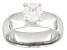 Cubic Zirconia Silver Ring 1.36ctw