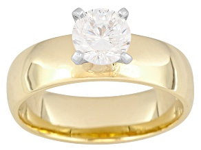 Cubic Zirconia 18k Yellow Gold Over Silver Ring 1.36ct