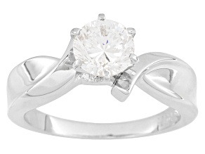 Cubic Zirconia Rhodium Over Sterling Silver Ring 1.67ct
