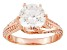 Cubic Zirconia 18k Rose Gold Over Silver Ring 5.53ctw