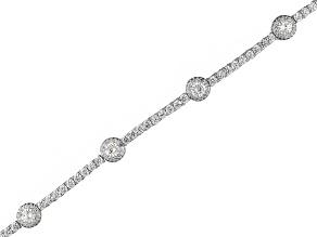 Cubic Zirconia Silver Bracelet 13.93ctw