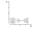 Cubic Zirconia 14k White Gold Stud Earrings 6.92ctw