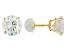 Cubic Zirconia 14k Yellow Gold Stud Earrings 6.92ctw