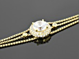 Cubic Zirconia 18k Yellow Gold Over Sterling Silver Bracelet 3.21ctw