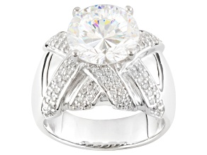 Cubic Zirconia Sterling Silver Ring 6.91ctw