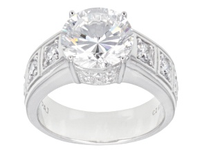 White Cubic Zirconia Sterling Silver Ring 7.50ctw