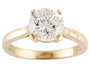 White Cubic Zirconia 18k Yellow Gold Over Silver Ring 3.30ctw