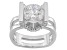 Cubic Zirconia Rhodium Over Silver Ring 3.60ctw